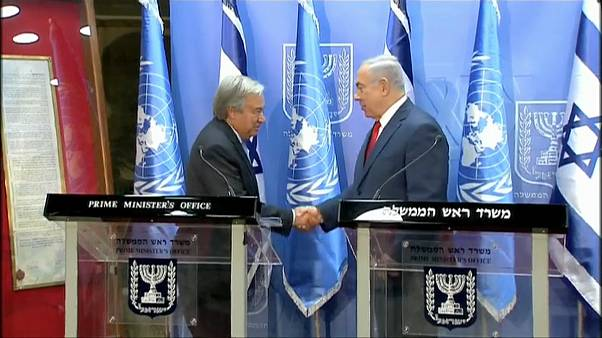 """Guterres in Medio Oriente. Netanyahu: """"Ossessione Onu su Israele"""""""