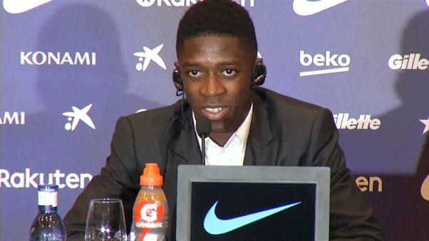 """Dembelé """"finta"""" Neymar no Barcelona e agita mercado"""