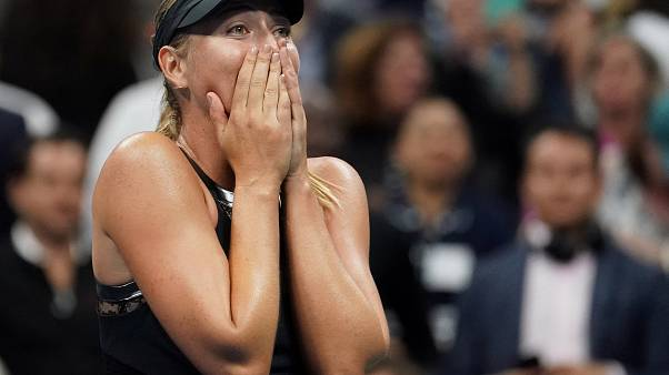 Sharapova beats Halep in US Open first round