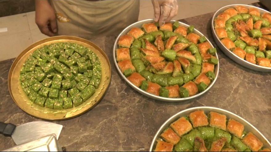 Gaziantep'te bayram öncesi baklava telaşı başladı