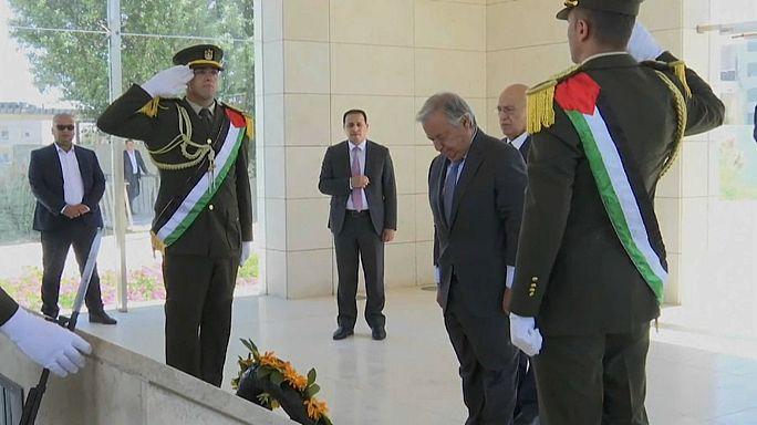 "Guterres in Palestina: ""Due Stati unica soluzione"""