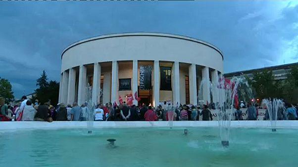 A Tito marsall tér átnevezése ellen tüntettek Zágrábban