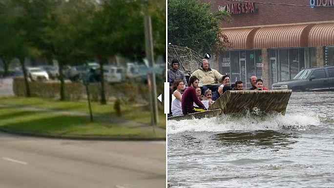 Vergleich in Bildern: Texas vor und nach Sturm Harvey