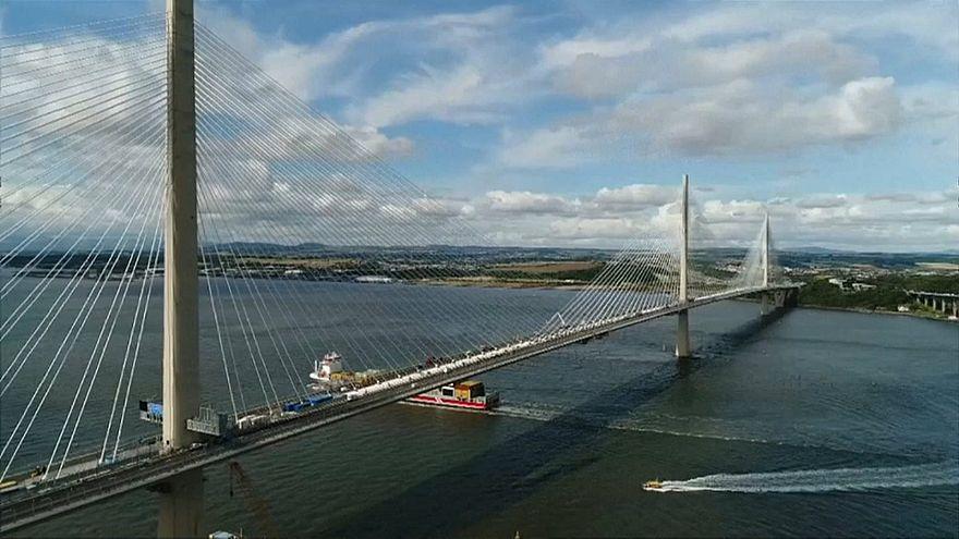 Massive new bridge opens to traffic over Scotland's River Forth