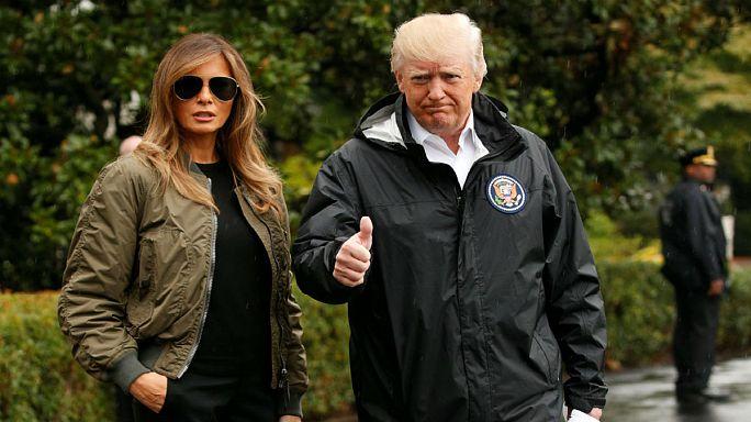Трамп прибыл в зону стихийного бедствия