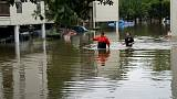 Evacuaciones por aire y tierra en Houston