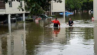 I soccorsi nel Texas sott'acqua