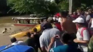 Nueve muertos al caer un autobús a un río en Nicaragua