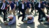 واشنطن تتهم 15 رجل أمن تركي على خلفية شجار مع محتجين
