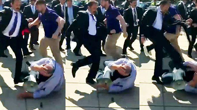 Gewalt bei Protesten: Türkische Sicherheitsleute in den USA angeklagt
