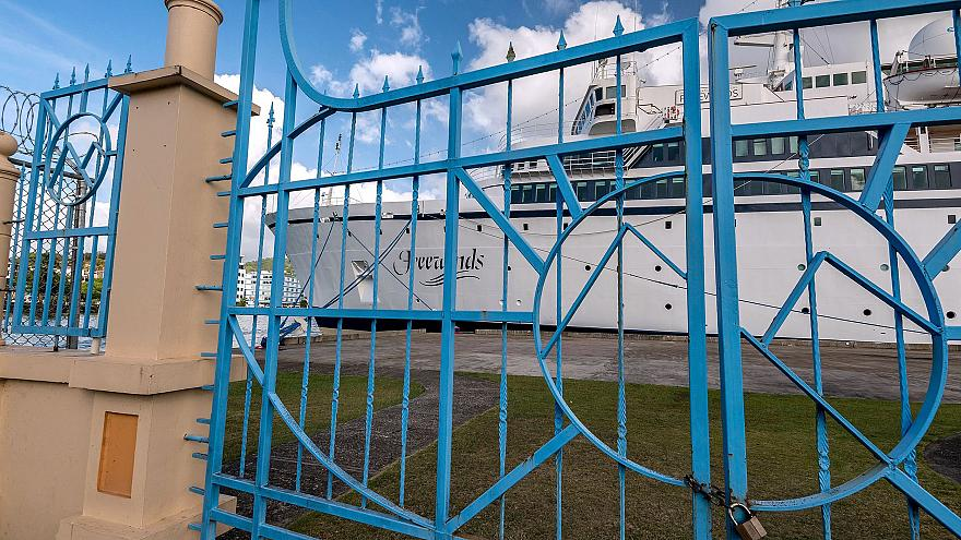 Image: The Freewinds cruise ship owned by the Church of Scientology is seen