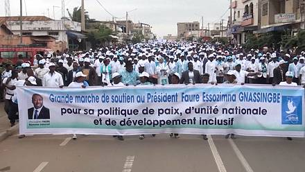Togo: Demonstration in support of President Gnassingbé [no comment]