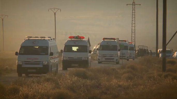 Légitámadással állították meg az ISIS-konvojt