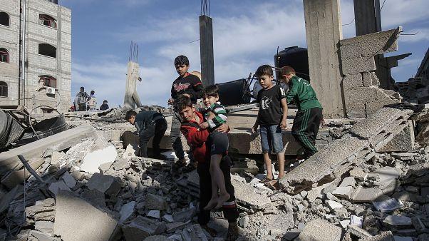 Image: PALESTINIAN-ISRAEL-UNREST-GAZA