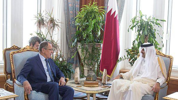 تلاشهای لاوروف در دوحه برای پایان بحران قطر
