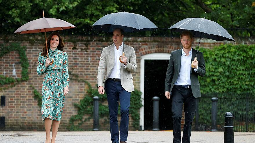 A private tribute - Kate joins William and Harry to honour their mother, Princess Diana