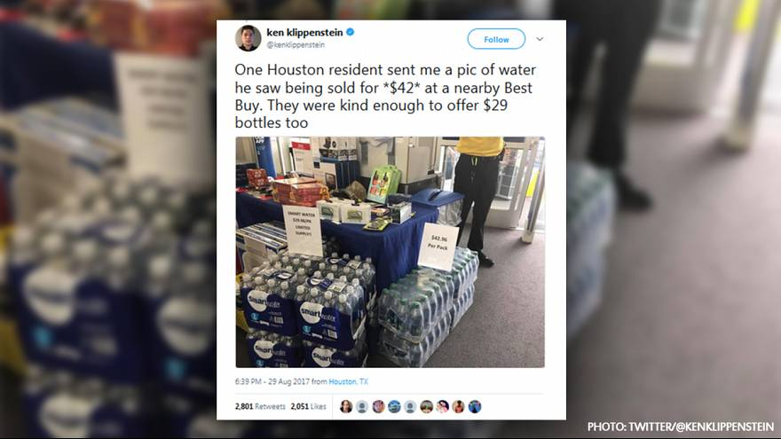 Texas store apologises after bottled water offered for €35 in storm aftermath