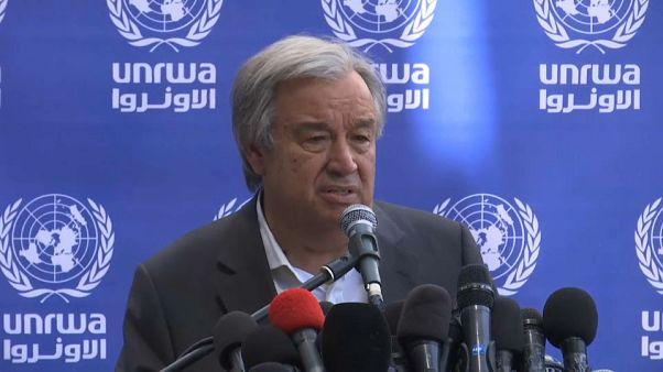 Guterres reclama en Gaza el fin del bloqueo de Israel