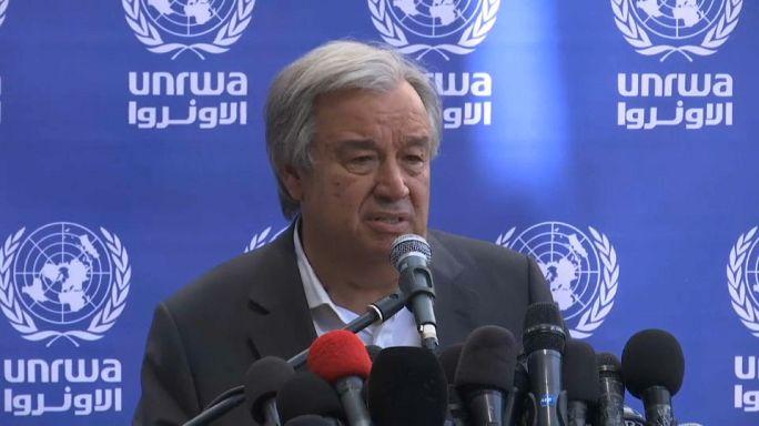 António Guterres apela ao fim do bloqueio à Faixa de Gaza