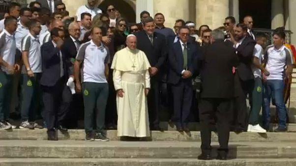 A pápa fogadta a Chapecoense focistáit