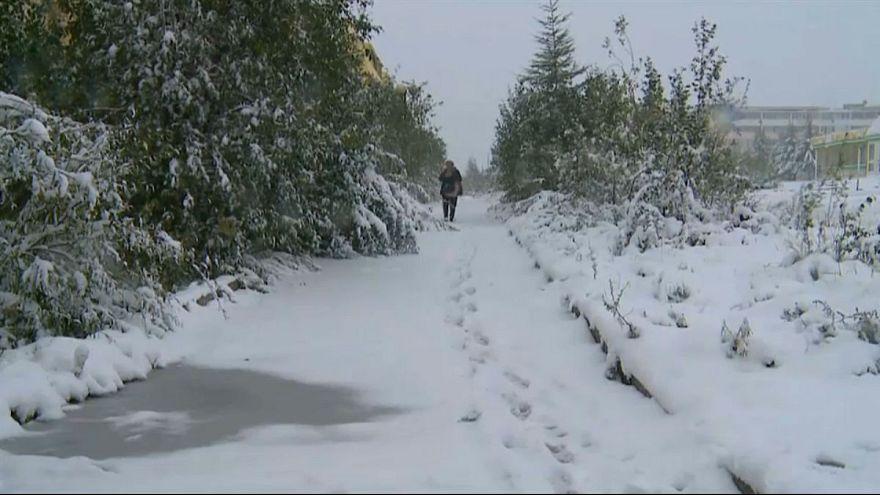 الثلج في روسيا صيفا