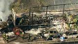 تصادف دهها خودرو در بزرگراهی در برزیل
