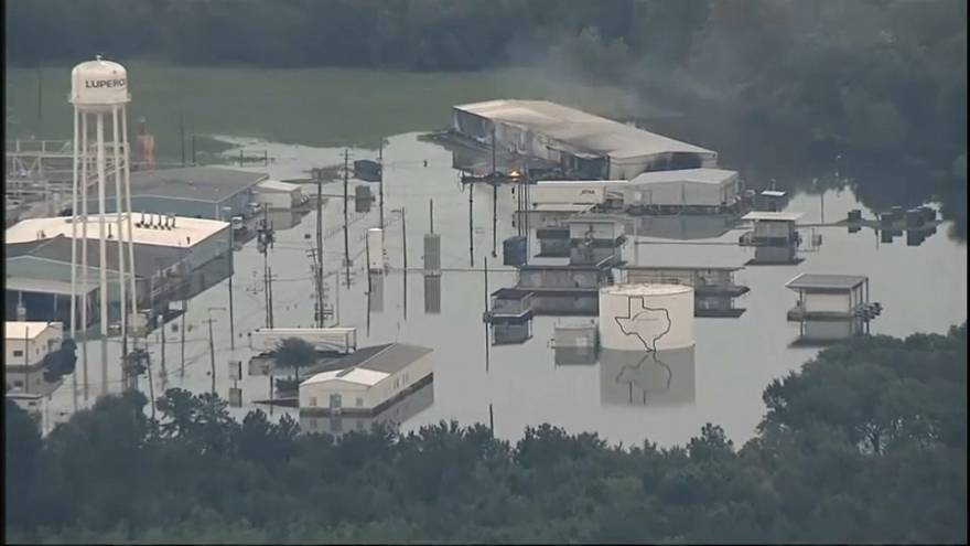 Explosions, smoke at flood-hit chemical plant in Texas