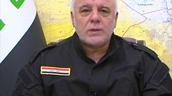 العبادي يعلن الانتصار على داعش بعد تحرير نينوى