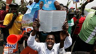 [Photos] Kenya opposition supporters celebrate court ruling annulling polls