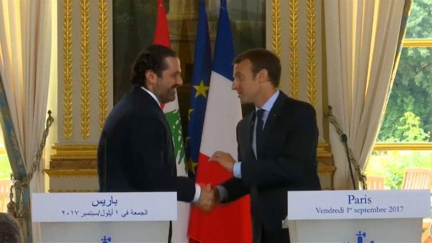 ماكرون والحريري يؤكدان التعاون من أجل عودة اللاجئين السوريين