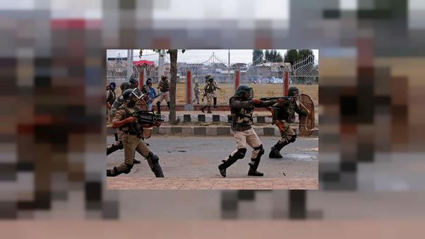 Protests in Kashmir broken up by Indian police
