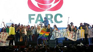 Colombia's former rebels put on Bogota concert