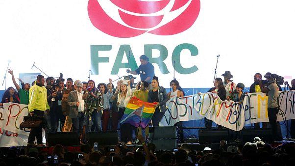 Colombia's former rebels put on Bogota concert
