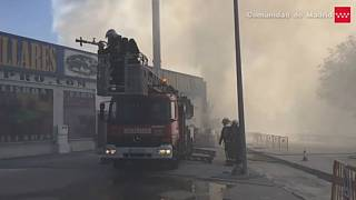 Toxic cloud unleashed over Madrid after fire