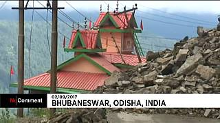 Chaos durch Monsunregen in Odisha