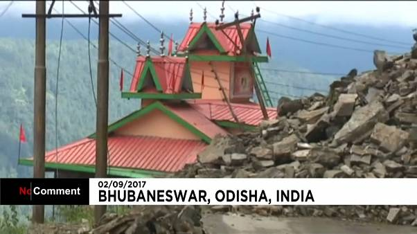 Оползни и наводнения в Индии