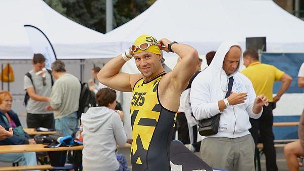 Daring swim across Danube in Budapest Urban Games