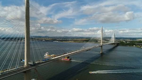 Scotland opens spectacular new bridge