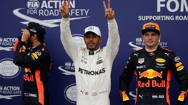 Hamilton İtalya'da pole pozisyonunda başlayacak