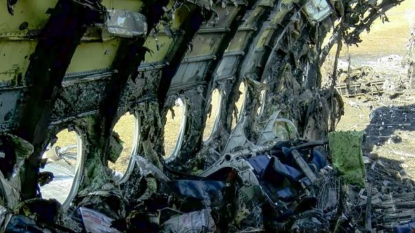 Image: The wreckage of a doomed Aeroflot plane