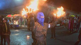 Bataille de boules de feu au Salvador