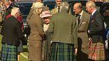 Elizabeth II en visite dans les Highlands, en Ecosse