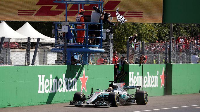 F1: Vince Lewis Hamilton, Ferrari terza con Vettel
