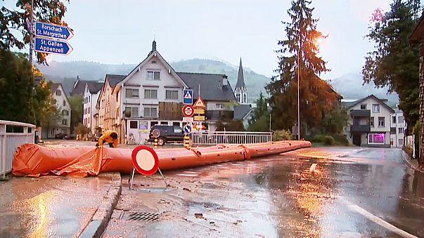 Non-stop rain over 72 hours floods eastern Switzerland
