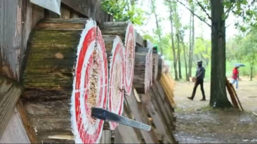 Europe's best axe and knife throwers gather in Hungary