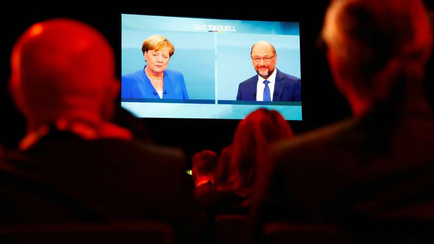 Merkel and Schulz go head-to-head on TV