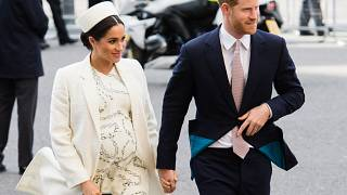 Image: The Duchess of Sussex and Prince Harry attend an event at Westminste