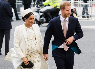 The Duchess of Sussex and Prince Harry attend an event at Westminster Abbey in London in March.