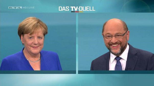 مناظرة تلفزيونية محتدمة بين أنغيلا ميركل وخصمها الاشتراكي الديمقراطي مارتن شولتز