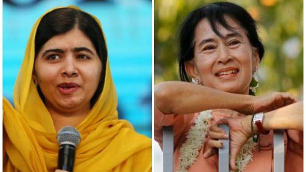"""""""مالالا يوسف زاي"""" تدعو """"أون سان سوتشي"""" إلى مناصرة الأقلية المسلمة المضطهدة من شعبها"""